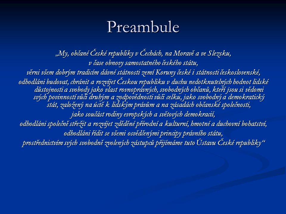 Preambule v čase obnovy samostatného českého státu,