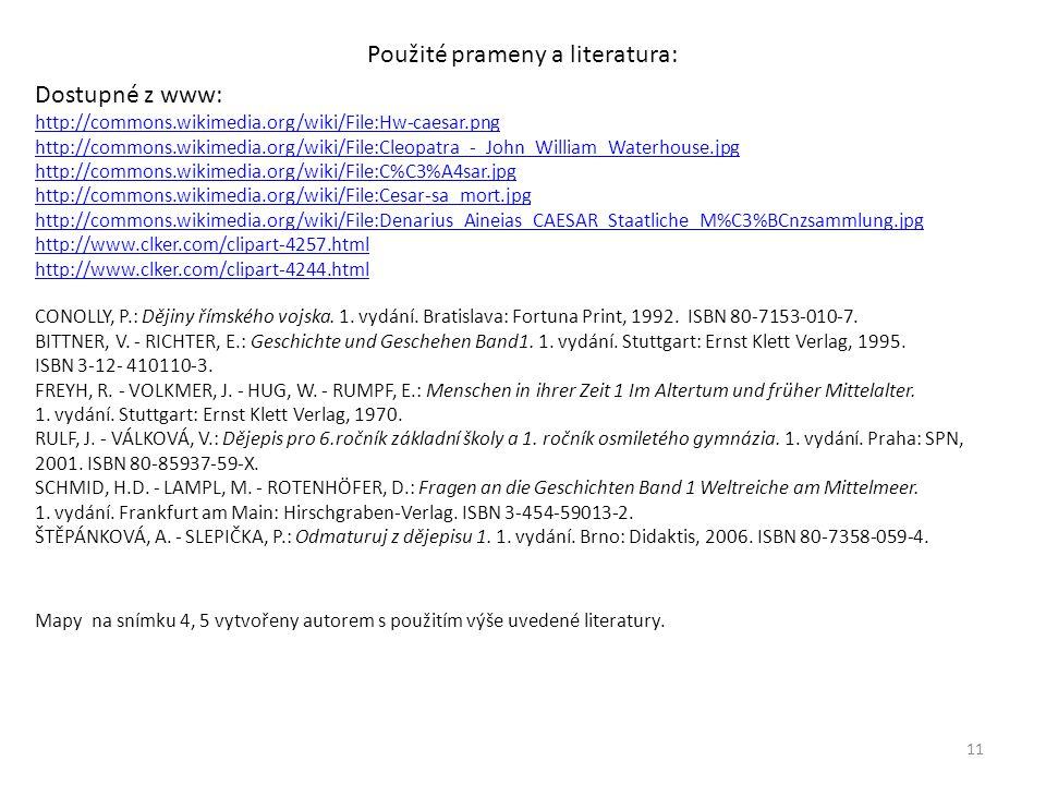 Použité prameny a literatura: