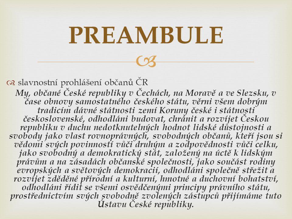 PREAMBULE slavnostní prohlášení občanů ČR