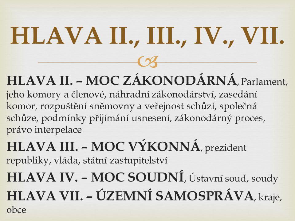 HLAVA II., III., IV., VII.