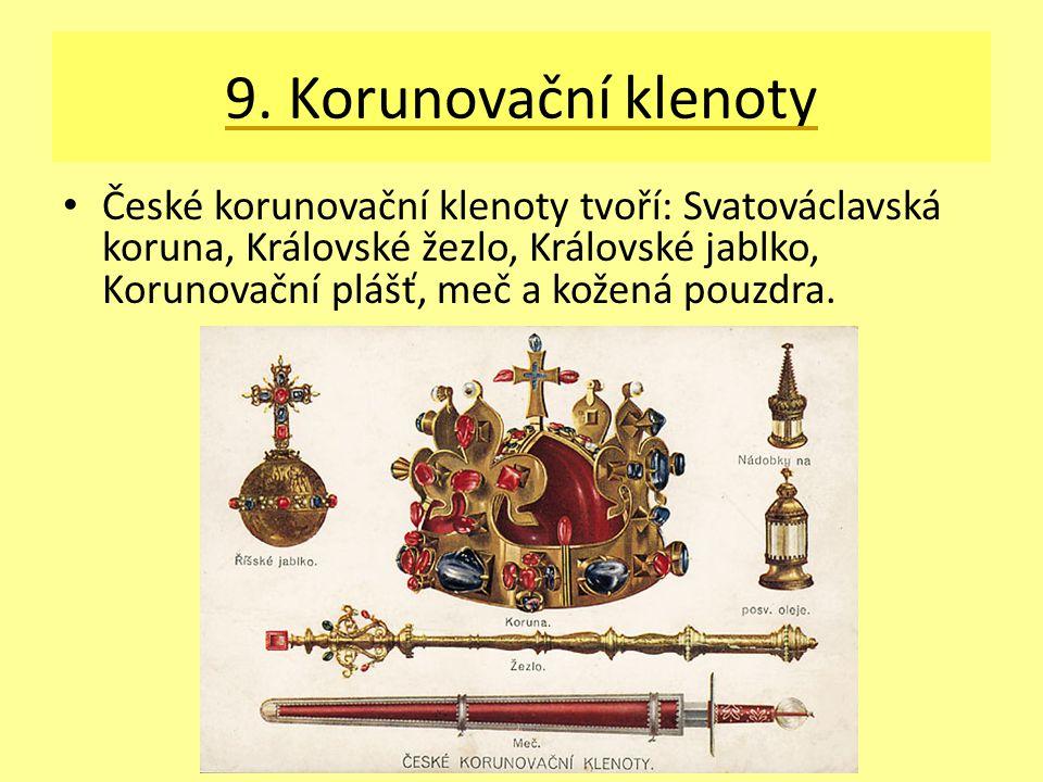 9. Korunovační klenoty