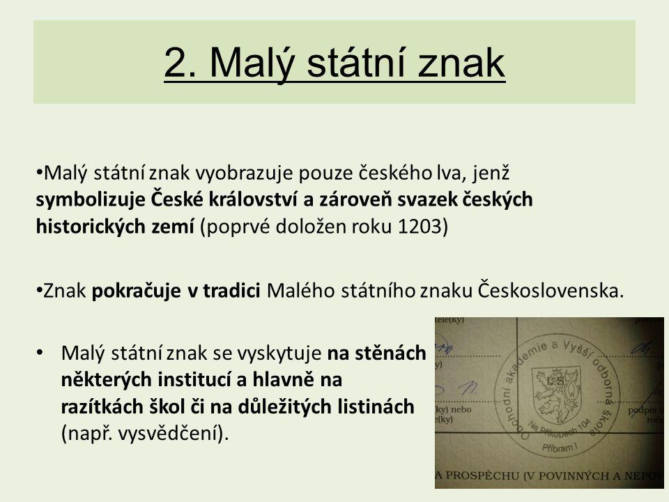 2. Malý státní znak