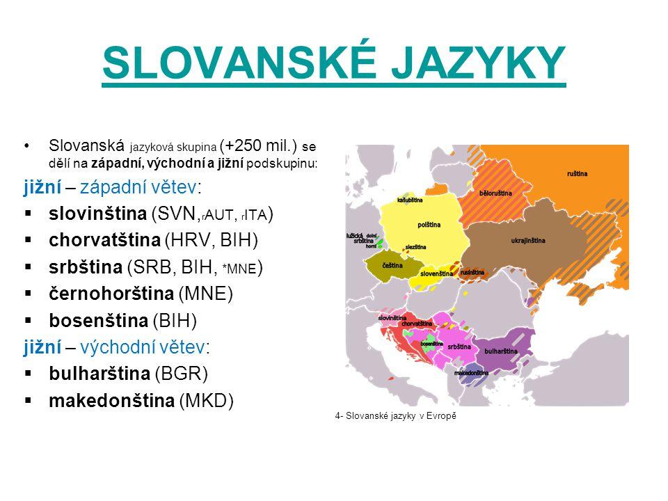 SLOVANSKÉ JAZYKY jižní – západní větev: slovinština (SVN,rAUT, rITA)