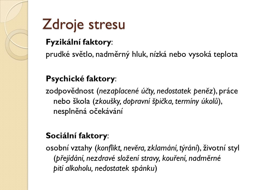 Zdroje stresu