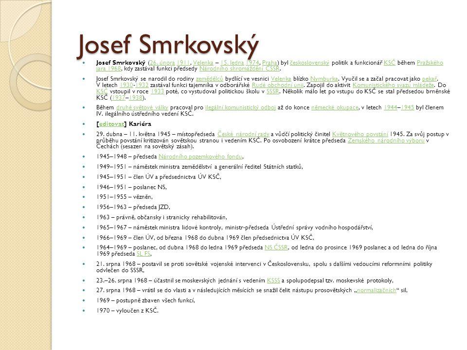 Josef Smrkovský