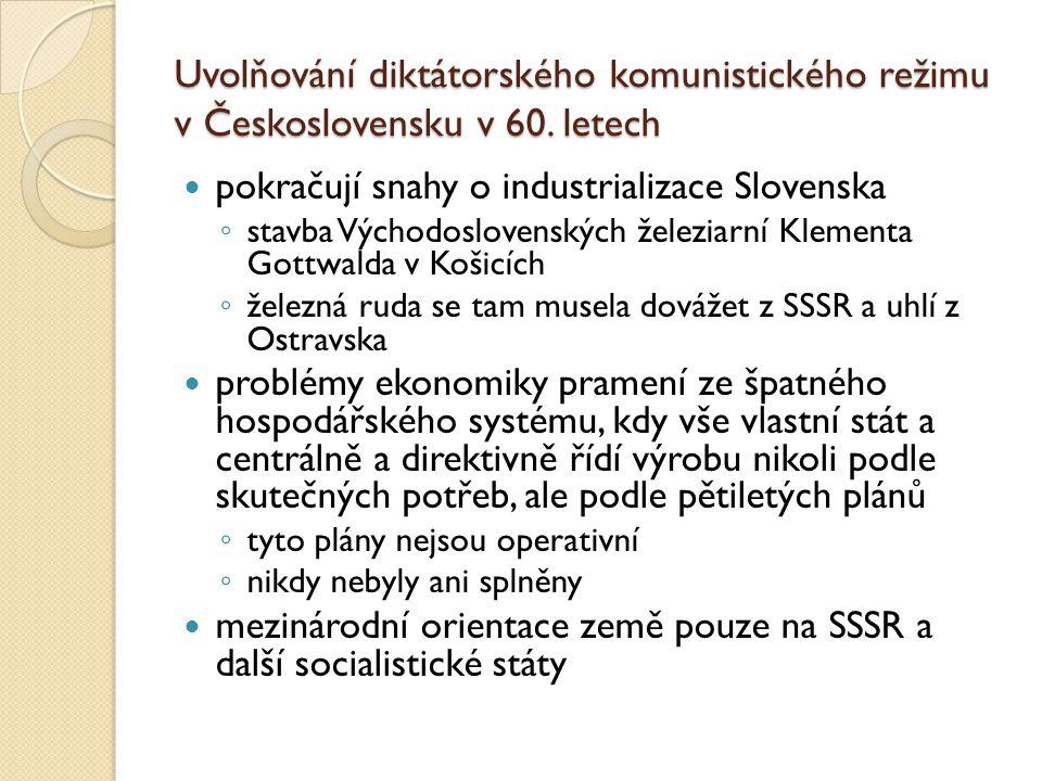 Uvolňování diktátorského komunistického režimu v Československu v 60