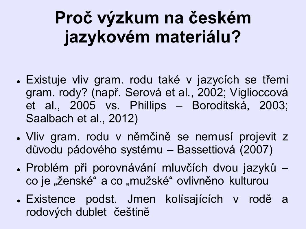 Proč výzkum na českém jazykovém materiálu