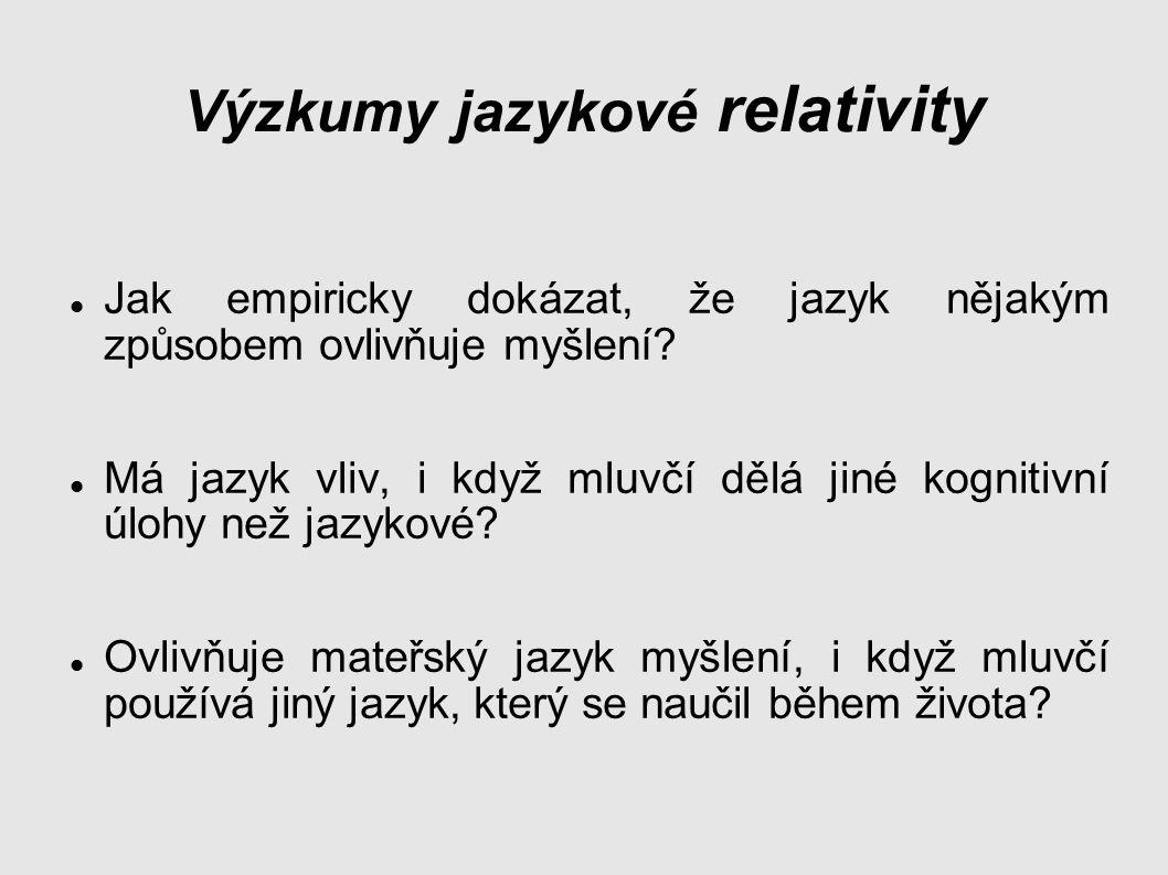 Výzkumy jazykové relativity