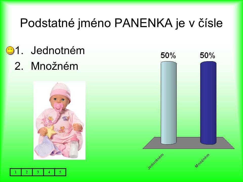Podstatné jméno PANENKA je v čísle