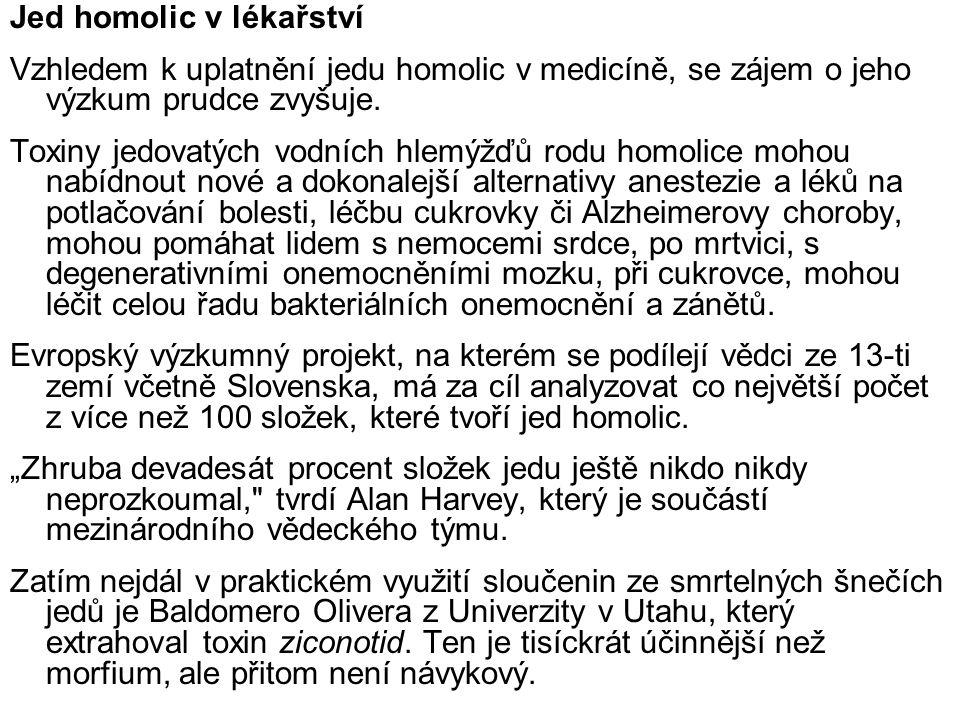 Jed homolic v lékařství