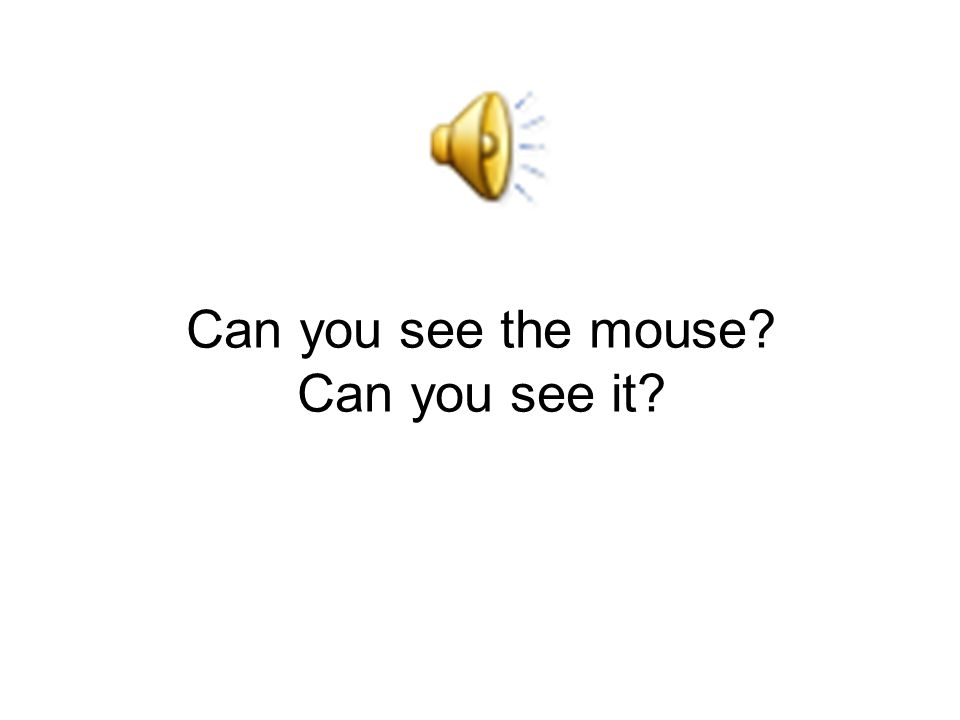 Can you see the mouse Can you see it