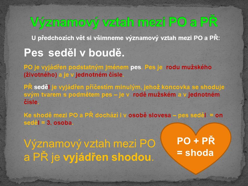 Významový vztah mezi PO a PŘ