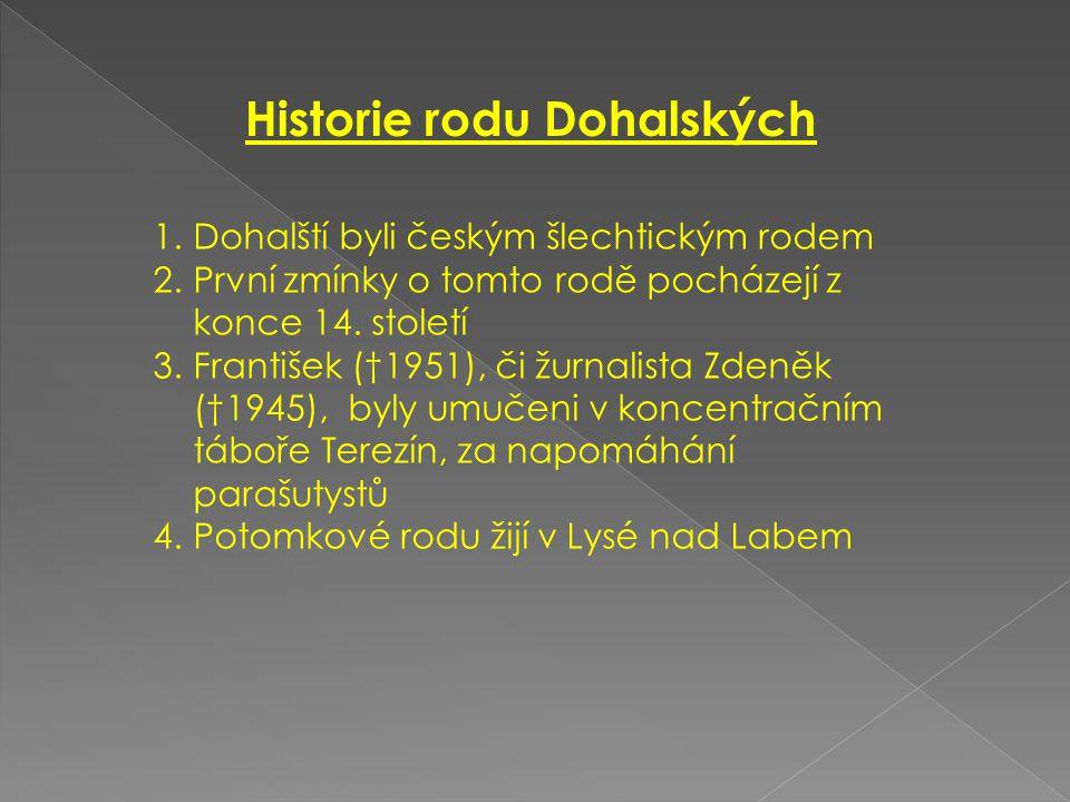 Historie rodu Dohalských