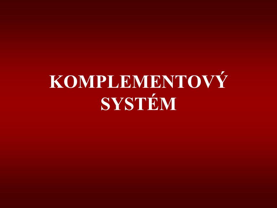 KOMPLEMENTOVÝ SYSTÉM
