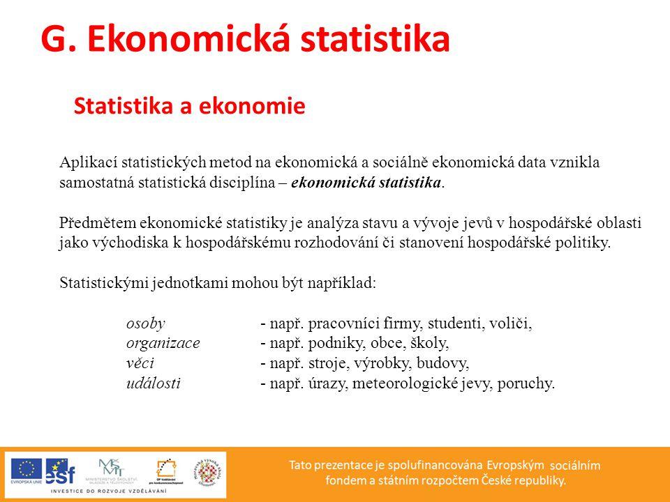 G. Ekonomická statistika