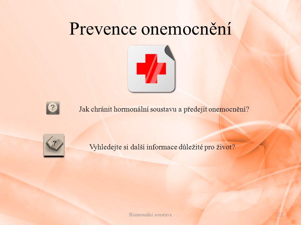 Jak chránit hormonální soustavu a předejít onemocnění
