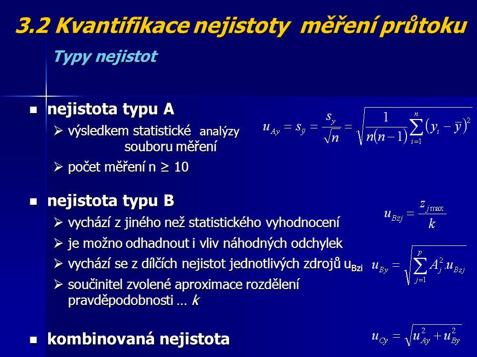 3.2 Kvantifikace nejistoty měření průtoku