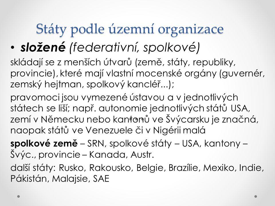 Státy podle územní organizace