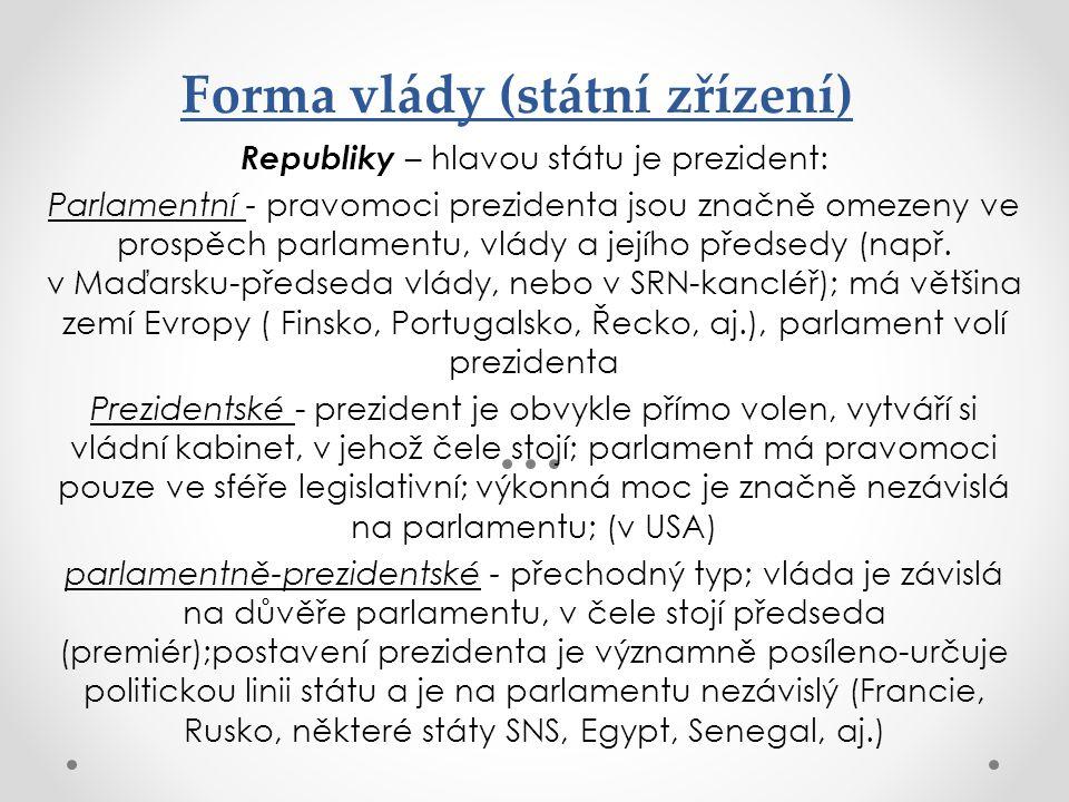 Forma vlády (státní zřízení)
