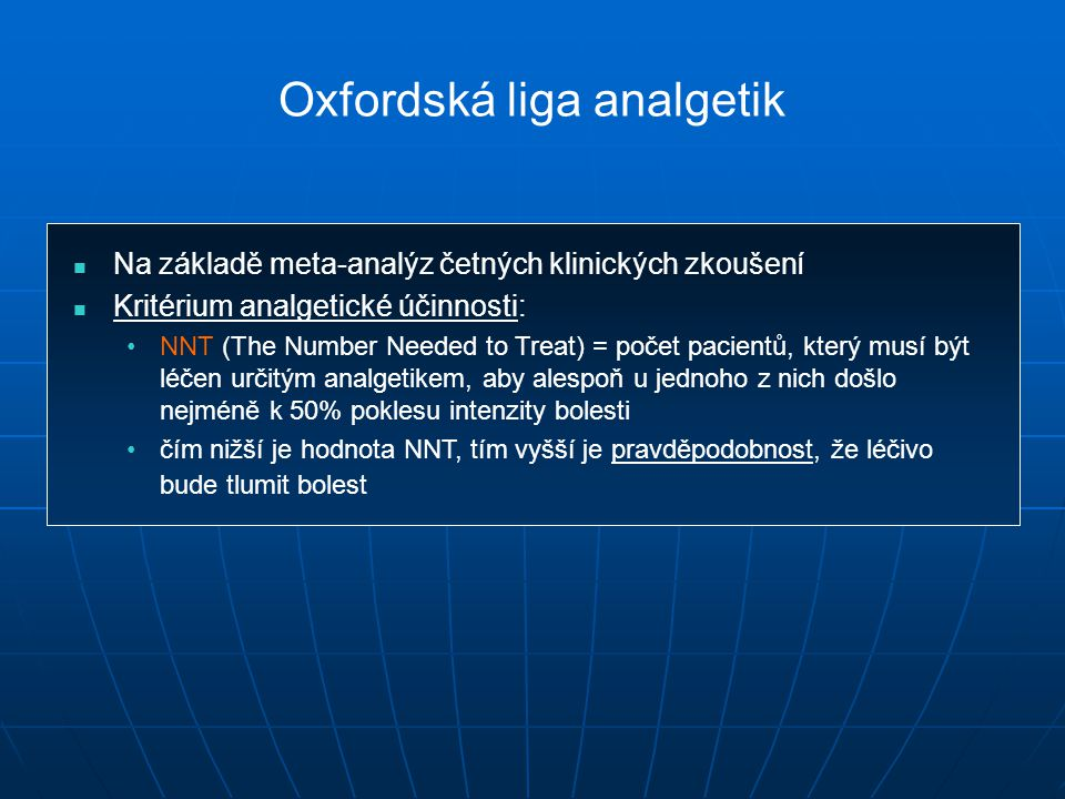 Oxfordská liga analgetik