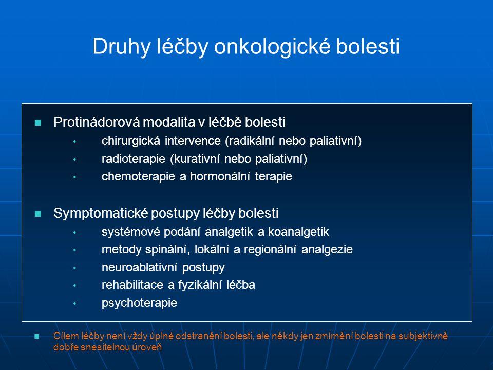 Druhy léčby onkologické bolesti