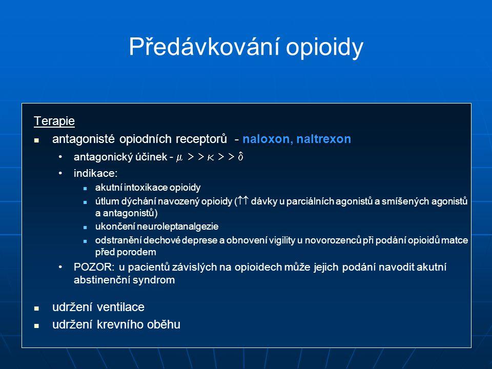 Předávkování opioidy Terapie