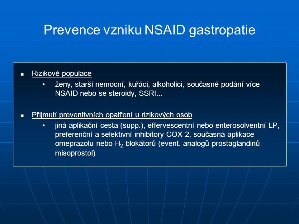 Prevence vzniku NSAID gastropatie