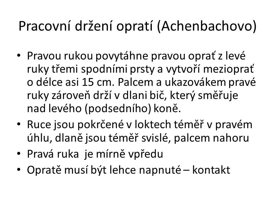 Pracovní držení opratí (Achenbachovo)