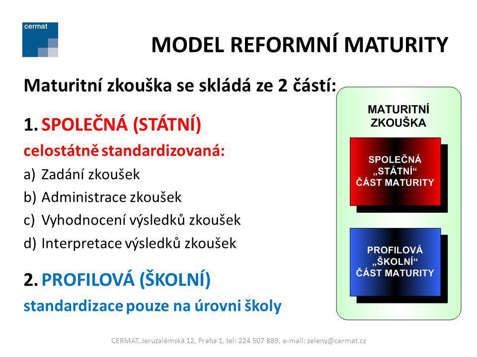 MODEL REFORMNÍ MATURITY