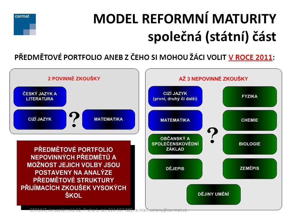MODEL REFORMNÍ MATURITY společná (státní) část