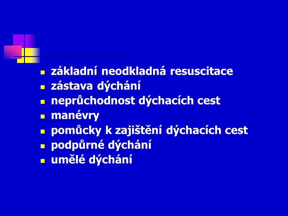 základní neodkladná resuscitace