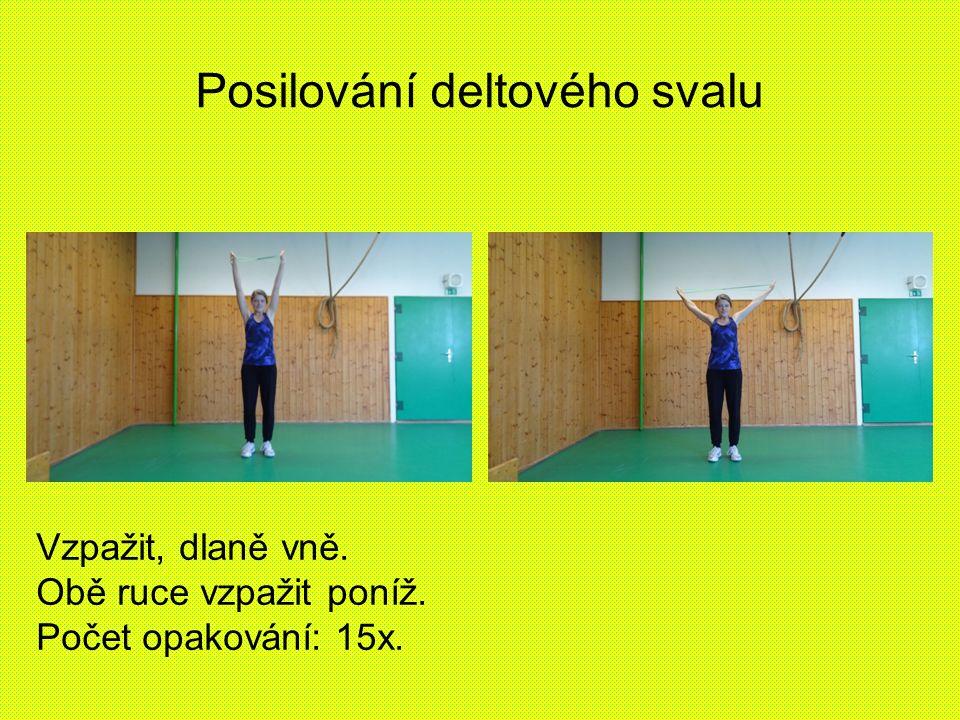Posilování deltového svalu