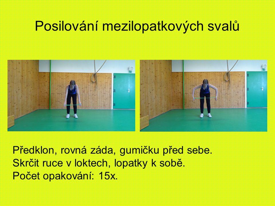 Posilování mezilopatkových svalů