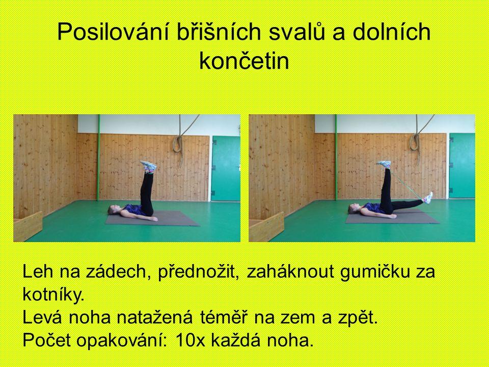 Posilování břišních svalů a dolních končetin