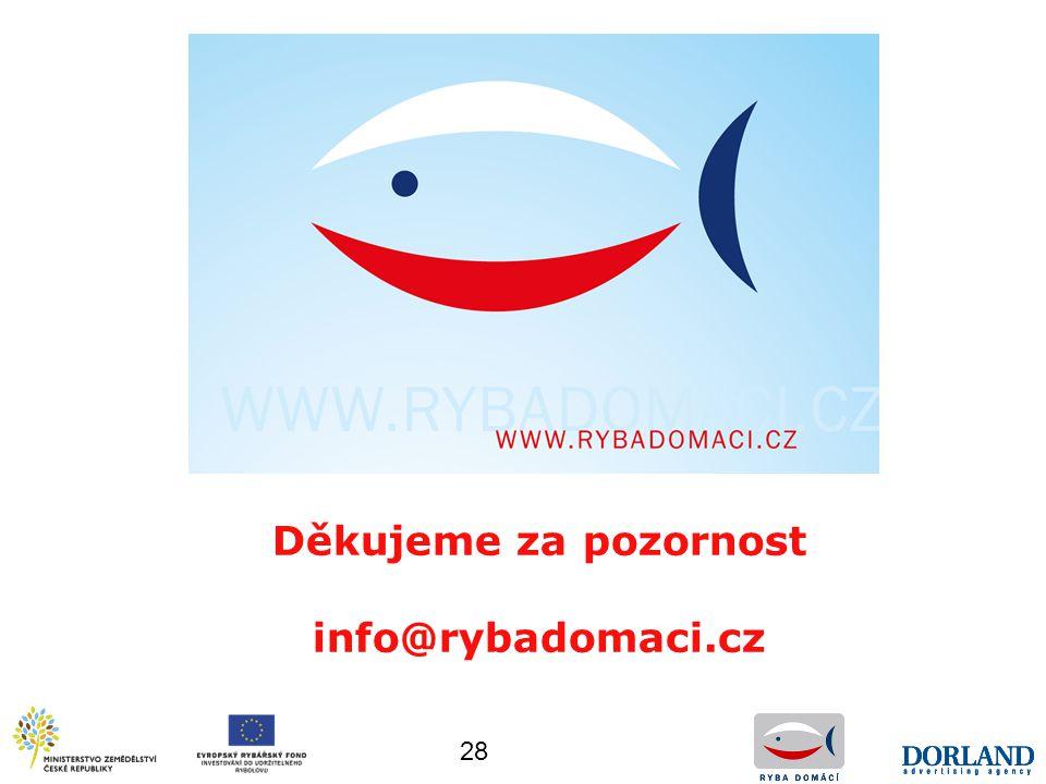 Děkujeme za pozornost info@rybadomaci.cz