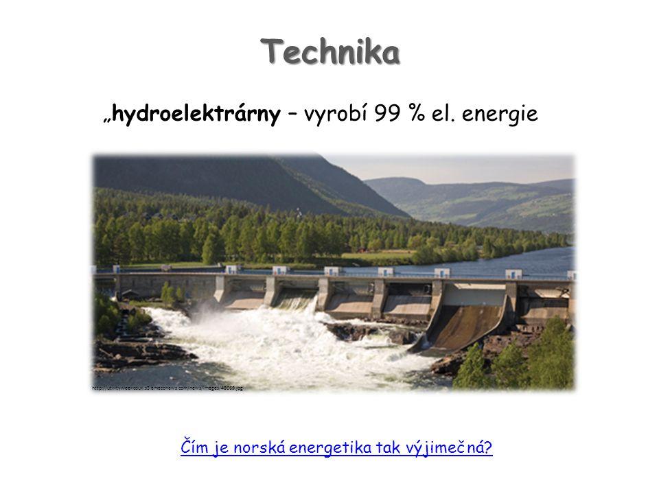 "Technika ""hydroelektrárny – vyrobí 99 % el. energie"