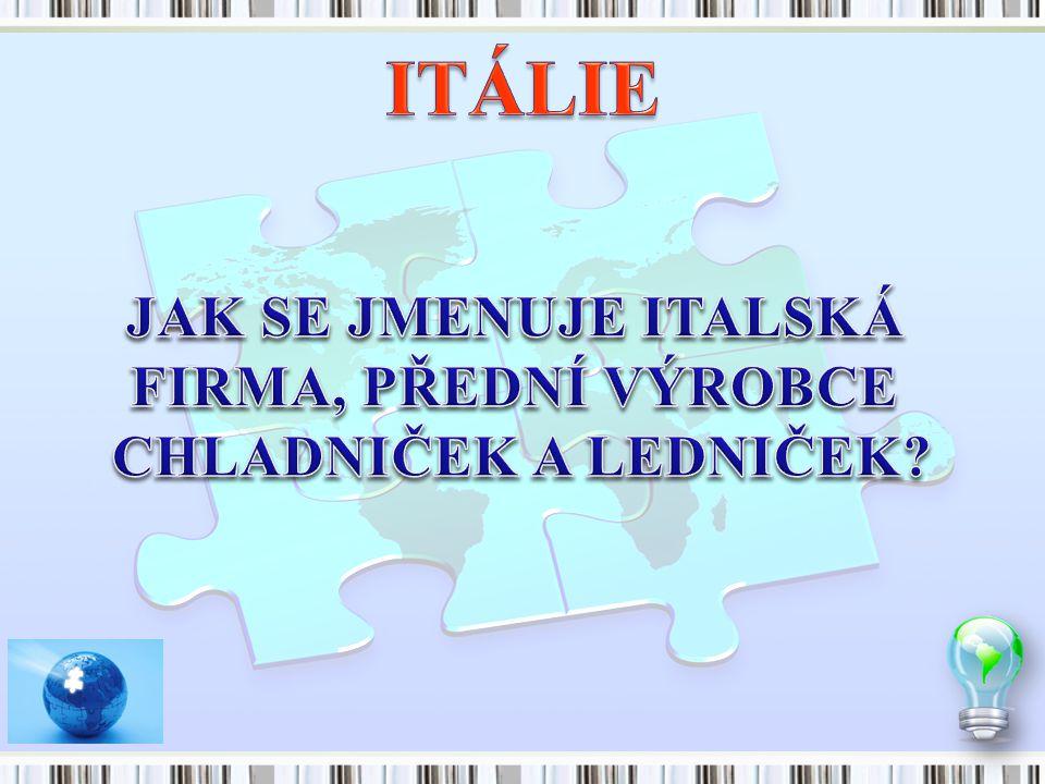 ITÁLIE JAK SE JMENUJE ITALSKÁ FIRMA, PŘEDNÍ VÝROBCE