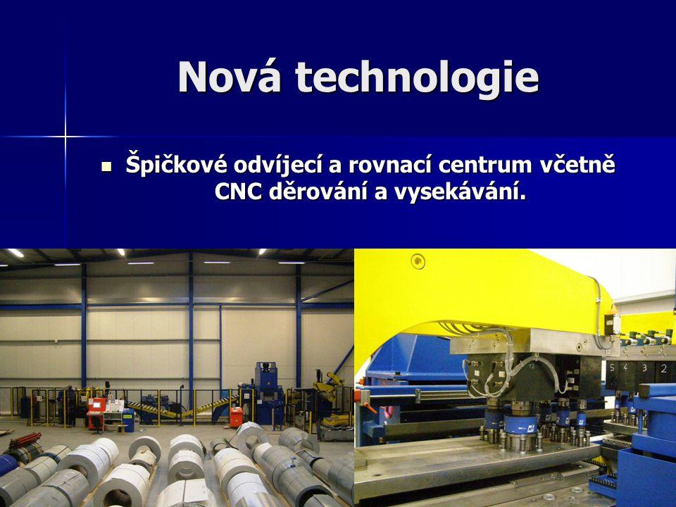 Špičkové odvíjecí a rovnací centrum včetně CNC děrování a vysekávání.