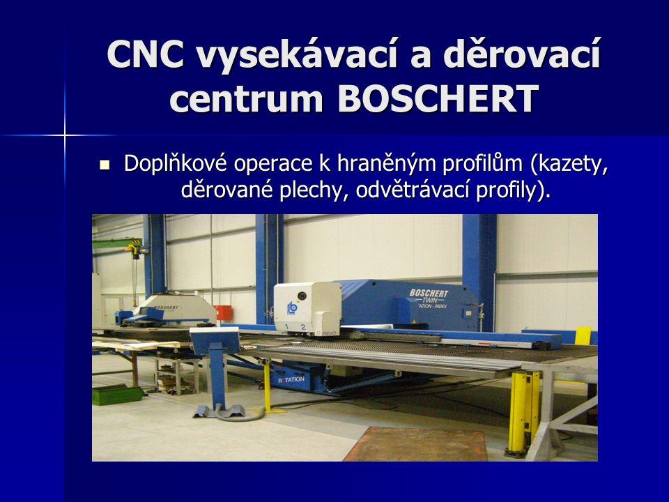 CNC vysekávací a děrovací centrum BOSCHERT