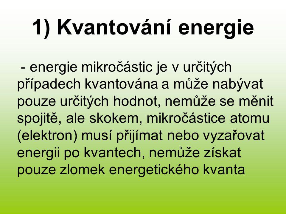 1) Kvantování energie