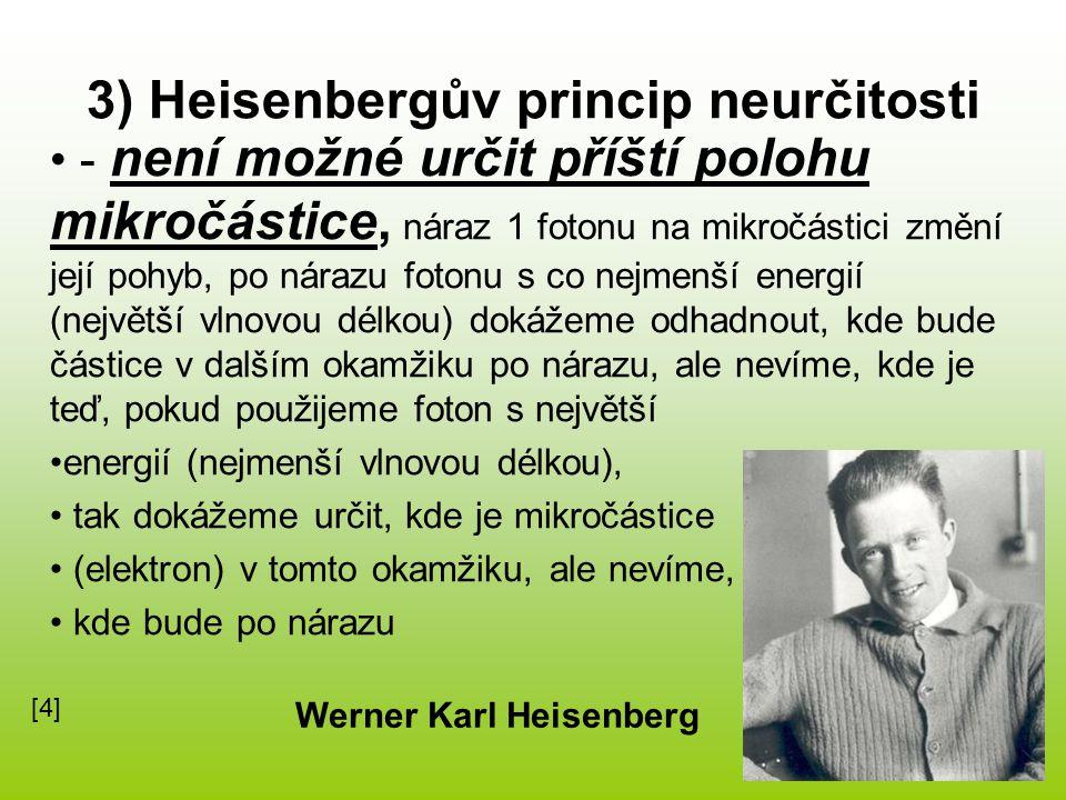 3) Heisenbergův princip neurčitosti