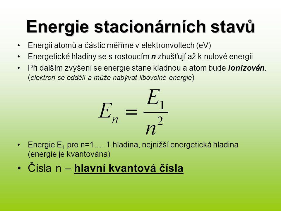 Energie stacionárních stavů
