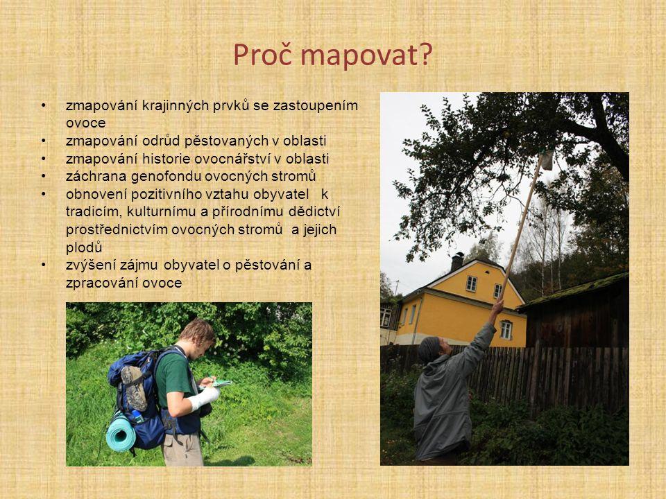 Proč mapovat zmapování krajinných prvků se zastoupením ovoce