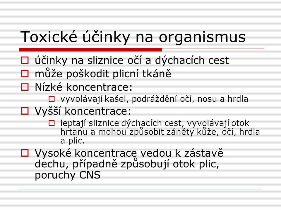 Toxické účinky na organismus