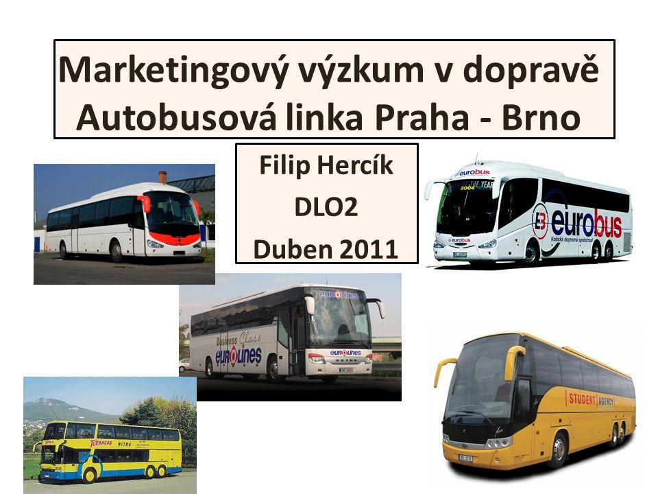 Marketingový výzkum v dopravě Autobusová linka Praha - Brno