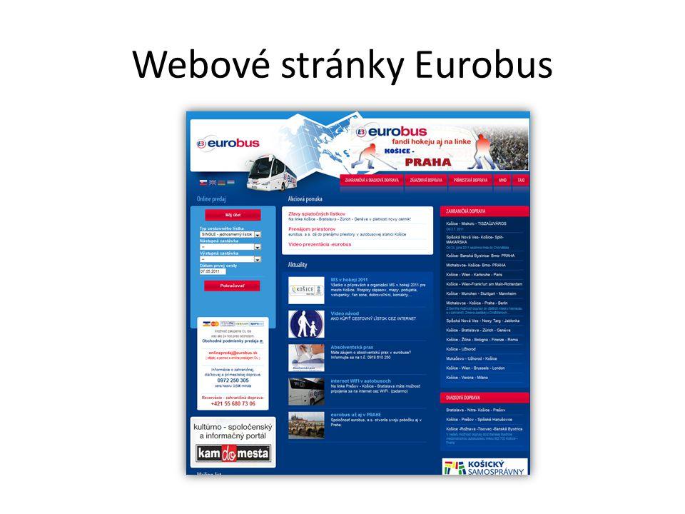 Webové stránky Eurobus