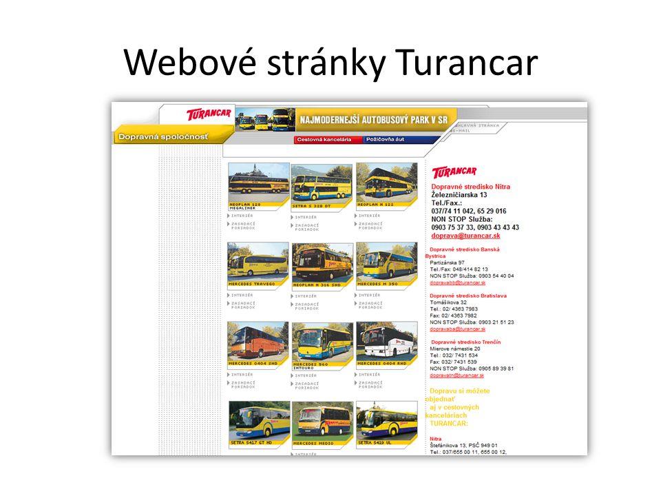 Webové stránky Turancar