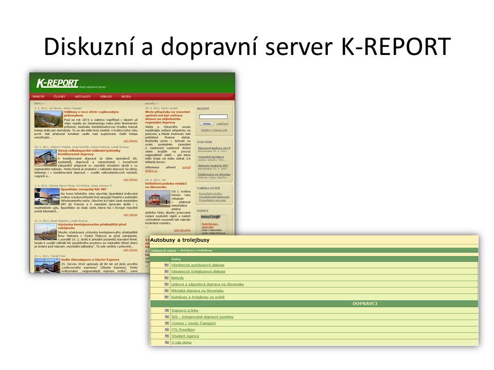 Diskuzní a dopravní server K-REPORT