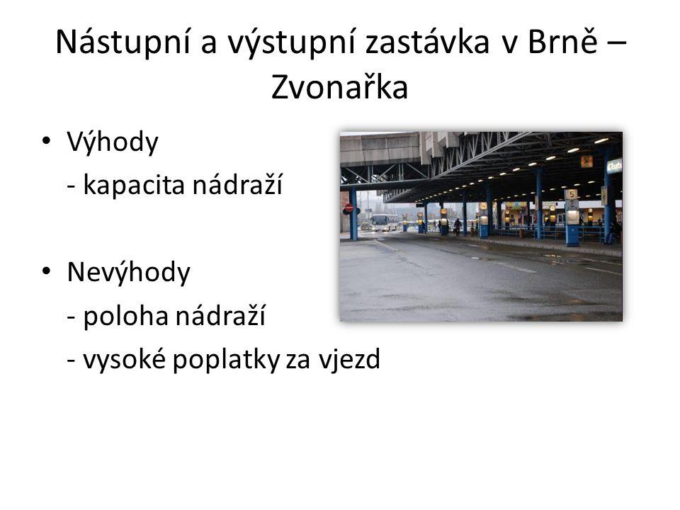 Nástupní a výstupní zastávka v Brně – Zvonařka
