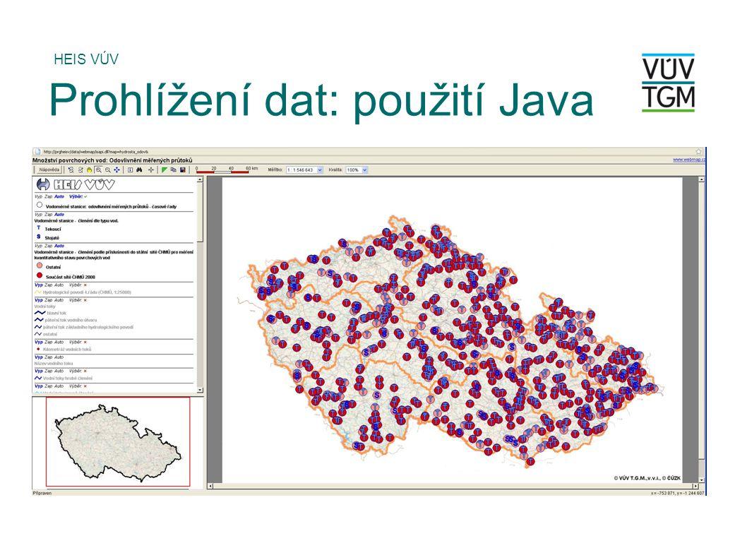 Prohlížení dat: použití Java
